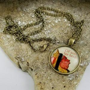 Jewelry - NWOT Alice in Wonderland Queen of Hearts Necklace